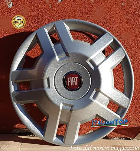 Generic FIAT Ducato Radzierblende Quattro (4) Transporter und Wohnmobil 1300 Durchmesser 15 Logo rot