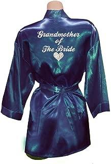 Women Grandmother The Bride Heart Golden Glitter Kimono Party Satin Robes
