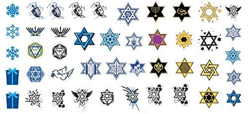 Hanukkah Holiday Assortment Water Slide Nail Art Decals Set #2 - Salon Quality 5.5' X 3' Sheet!