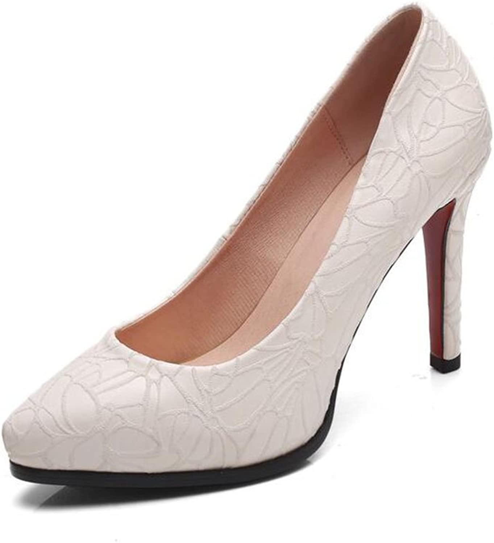XUERUI Frau High Heels Stilettos Party Abschluss Modisch Elegant Schn 9 cm Absatz (Farbe   2, gre   EU39 UK6 CN39)