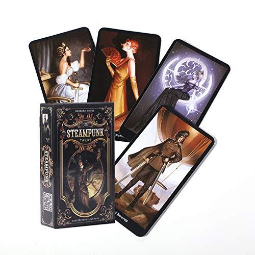 GYNFJK Cartas de Tarot The Steampunk Tarot Table Deck Tarjeta de Juego de Mesa para Juegos de Cartas de Fiesta de reunión Familiar