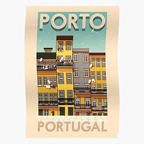 Porto Illustrator Ricardo Retro Vintage Rui Travel Portugal Home Decor Wall Art Print Poster !