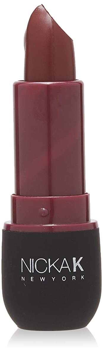 尊厳広く曇ったNICKA K Vivid Matte Lipstick NMS21 Violet Red (並行輸入品)