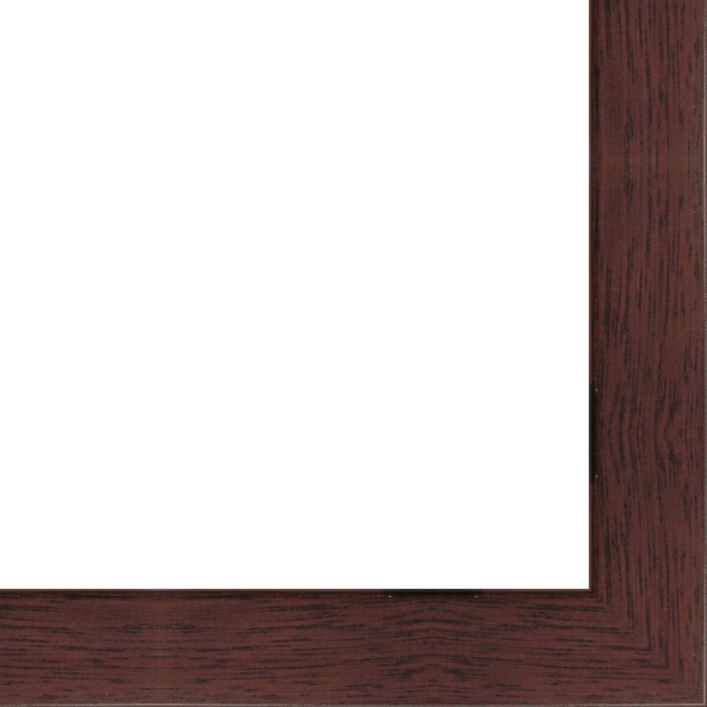 14x40 - 14 x 40 Mahogany Max 56% OFF 5 ☆ popular Flat Framer's with UV Frame Wood Solid