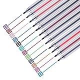 12 Unids/set Bolígrafo de gel 0.5Mm Tinta de color Bolígrafo Bolígrafo Bolígrafo Oficina escolar Examen del estudiante Escritura Papelería Suministro