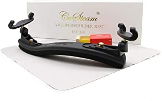 Violin Shoulder Rest Adjustable 4/4-3/4 size - CUSTEAM Shoulder Rest for Violin - Collapsible and Adjustable Silica gel Feet Pad Height for Beginners and Professionals
