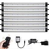 LED Under Counter Lighting Fixtures Remote - Albrillo Daylight White 5000K 12 Inch Light Bars, 24W 1800 Lumen Super Bright Strips for Cabinet Kitchen