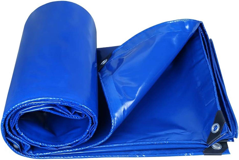 LXLIGHTS Heavy Duty Tarpaulin Tarpaulin Outdoor Shade Cloth Rain Sun Predection Linoleum Truck Tarpaulin, Woven Cloth Thickness 0.35MM 350g \m2 (color   blueee, Size   300  300cm)