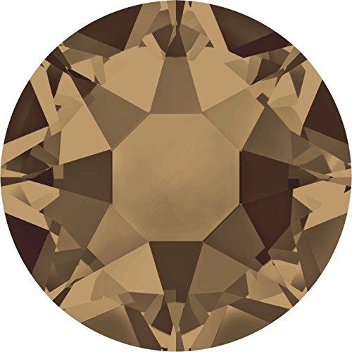 100 Stück SWAROVSKI 2078 XIRIUS Hotfix, Crystal Bronze Shade, SS16 (Ø ca. 4 mm), Strasssteine zum Aufbügeln