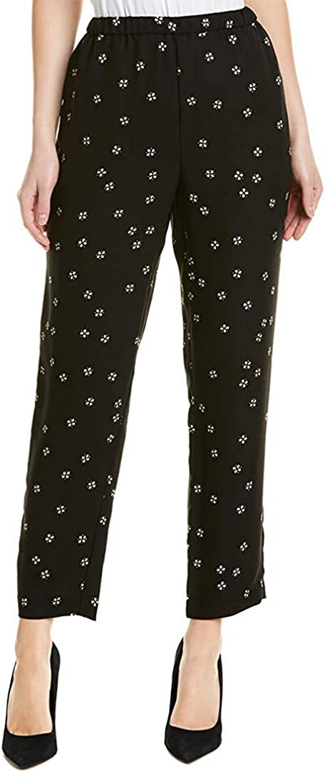 Vince Camuto Womens Ditsy Print Casual Lounge Pants, Black, X-Small