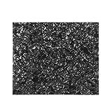 IKN 20X17cm Golpeador acústico en blanco Hoja de material Hoja de respaldo autoadhesiva Placa de rayado para guitarra acústica Tamaño de protector de corte, Perla negra