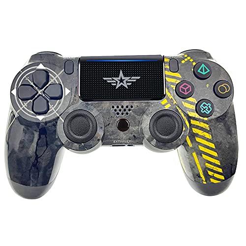 TPFOON PS4 Joystick, Controller Senza Fili per PlayStation-4/Pro/Slim/PC, Gamepad con Touch Panel, Doppia Vibrazione e Porta Audio con Luce LED