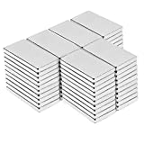 Magnete,Viereckig Ziegel Magnete 20 x 10 x 2 mm, magnet für DIY Building Craft Office(20x10x2mm-60pc)