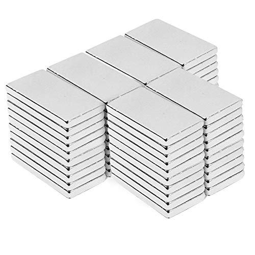 Magnete,Viereckig Ziegel Magnete 20 x 10 x 2 mm, magnet für DIY Building Craft Office(20x10x2mm-60pc)