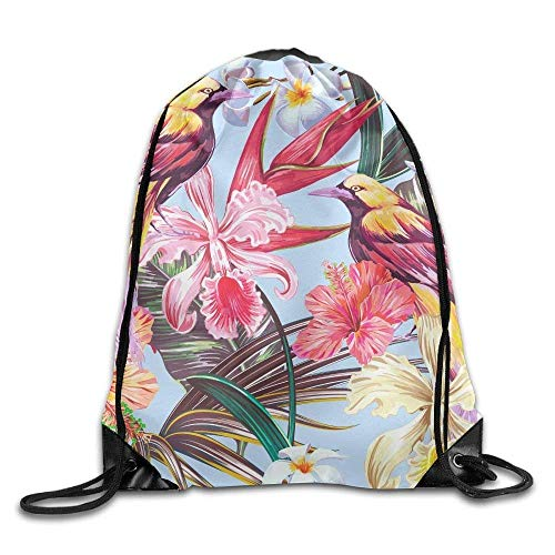 uykjuykj Bolsos De Gimnasio,Mochilas,Classic Lotus Drawstring Bags Work Basketball Daypack Storage Bag Gift Pattern 4 Lightweight Unique 17x14 IN