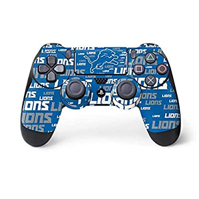 Skinit Decal Gaming Skin for PS4 Controller - Officially Licensed NFL Detroit Lions - Blast Alternate Design