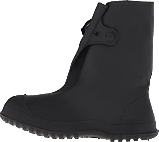 Tingley Rubber 35141 Work Brutes PVC 10-Inch Overshoe with Button, XX-Large, Black