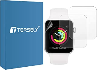 T Tersely [3 Pack] Screen Protector for Apple Watch-40mm Series 6/SE/5/4,Premium TPU Soft Flex Full Coverage Screen Protec...