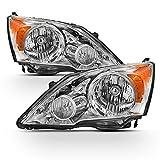 ACANII - For 2007-2011 Honda CRV CR-V Headlights Headlamps Front Light Assembly Pair Replacement Driver + Passenger Side