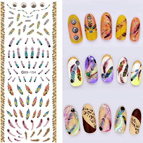 SRTYH Autocollant d'ongle DIY Nail Water Transfer Nails Art Stickers Mignon Dollar Argent Nail Wraps Autocollants Filigrane Ongle Decals-B