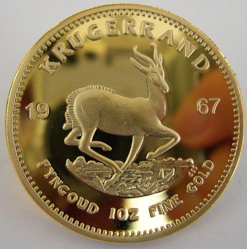 Krügerrand 1967, vergoldet - keine echte Massivgold-Krügerrand-Münze