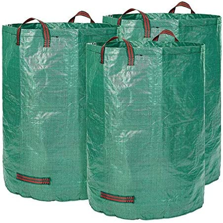 Glorytec 3-Pack 80 Gallons Garden Bag - Extra Large Reusable Leaf Bags - Garden Waste Bags - Collapsible Gardening Co...