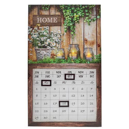 LED Kalender, Timeplaner, Dauerkalender Bild Home, Wandkalender, H 50cm