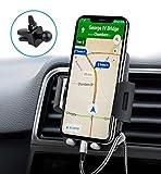 Support Téléphone Voiture Universel, Nouvelle Version, Quntis Support Voiture d'Air Vent pour GPS iPhone X 8 7 Plus Se 6S Samsung Galaxy S6 S7 Blackberry Nexus HTC Motorola Sony