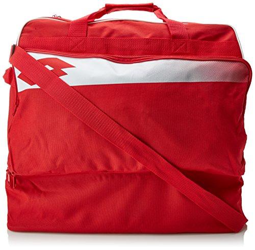 Lotto Bag Soccer Omega II - Mochila de fútbol para hombre, color rojo / blanco, talla 1