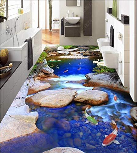 Custom Fussboden Folie 3D Boden Wandbild Pvc Unterwasserwelt Delfine Und Schildkröten 3D Bodenfliesen Dreidimensionale Malerei-350 * 245Cm