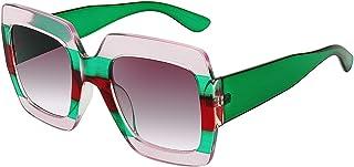 Square Frame Oversized Sunglasses for Women Big Fashion Shades