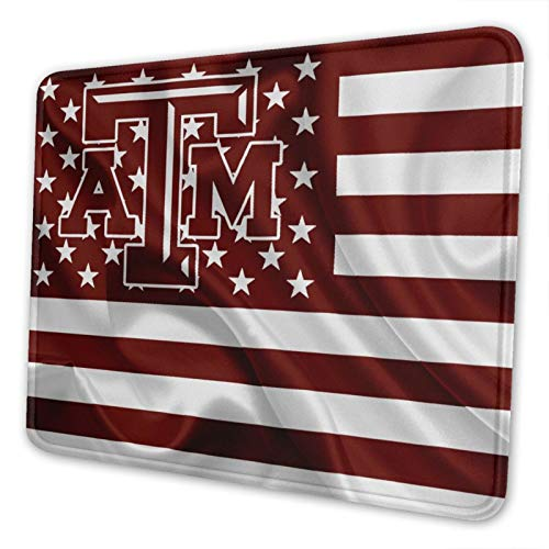 Texas A&M University Mouse Pad Stitched Edge Non-Slip Rubber Base Rectangle Gaming Mousepad for Laptop Computer & Pc