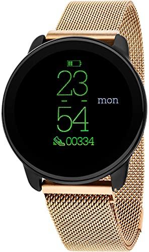 Reloj Nowley Jazz smartwatch Rose - Cadena Esterilla, 40x40x10mm de, crono, Alarma, pulsaciones, presion Arterial, oxigeno en Sangre, calorias, sedentarismo, Monitor del sueño,Sport, podometro,