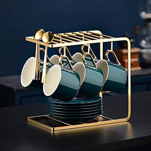 FYHH-JZHY Portable tea set,Tea Set Nordic Ceramic Tea Cup Pot with Candler Strainer Floral Teapot Set Cafe Mug Teaware Coffee Cup Teacup