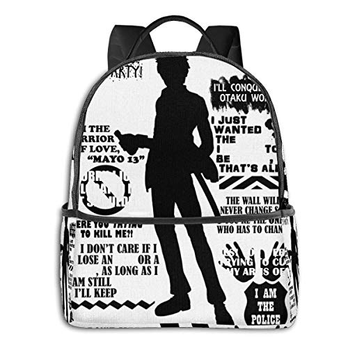 XCNGG Anime Gintama Hijikata Toshiro Quotes Student School Bag School Cycling Leisure Travel Camping Outdoor Backpack