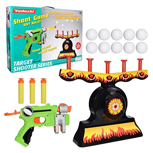 Wendysy Hover Floating Target Shooting Game,Electric Shooting Set Training Toy Table Tennis Game,Darts,Shooting Game Target Practice Toys,Space Guns Toy Best Gifts for Boys Girls