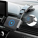 Wireless Car Charger, 10W Qi Fast Charging Car Mount Phone Holder for Air Vent & Dashboard, Compatible with iPhone 8/X/11/12 Series, Samsung Galaxy Series, Note Series