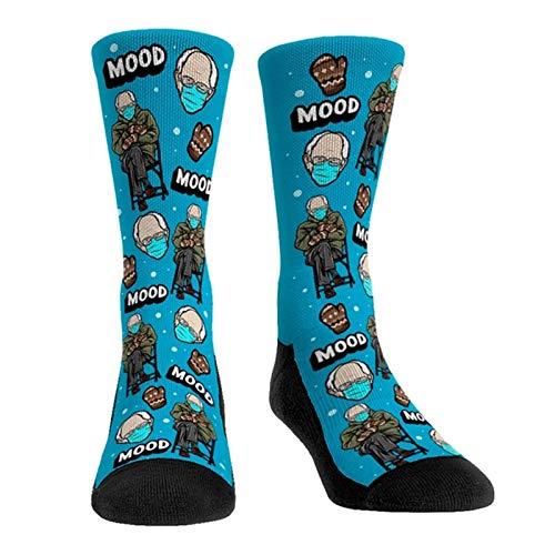 BOLANA Sanders Inauguration Socks Rock 'em Socks Mood Mittens Medias Divertidas Unisex