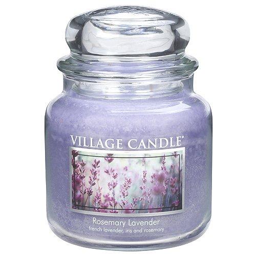 Village Candle 106316810 Rosemary Lavender Pot de Verre, Violet, 10,4 x 10,8 x 13,9 cm