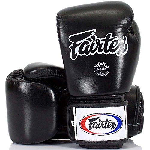 Fairtex Boxhandschuhe, BGV-1, schwarz, Boxing Gloves MMA Muay Thai Thaiboxen Size 10 Oz
