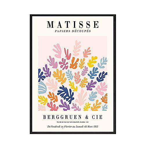 Matisse poster e stampe retrò wall art piante astratte fiori quadri nordici famiglia quadri su tela senza cornice A1 20x30cm