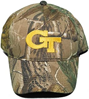 NCAA Signatures NEW! Georgia Tech University Yellow Jackets Buckle Back Hat Embroidered Camo Cap
