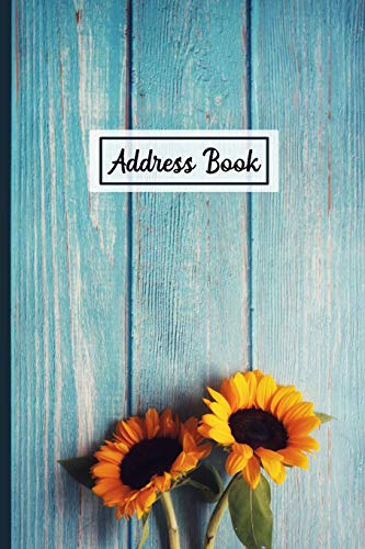 Address Book: Organizer and Notes with Alphabetical Tabs Rustic Sunflower Cover