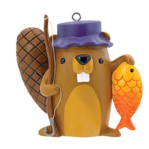 Carlton Heirloom Ornament 2017 Fishing - Beaver with Fishing Pole - #CXOR068M