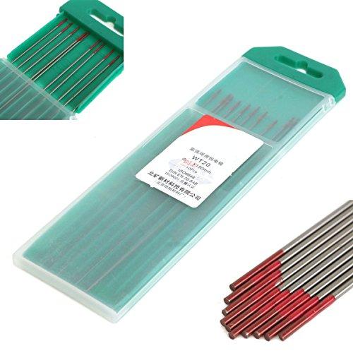 10 x 1.0mm toriato TIG Tungsten Electrodes Red Punta