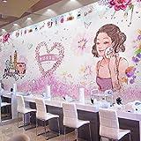 WLPBH Mural 3D Autoadhesivo Dream Makeup Store Romántico Cálido (W) 300X (H) 210Cm3D Photo Mural Niños Niños Decoración De La Habitación Fondo Papel De Pared Niño Niña Dormitorio Decoración De
