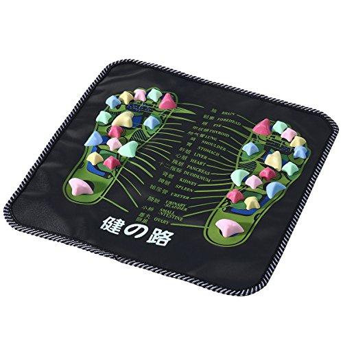 ROSENICE Tapis de massage de pied Tapis Acupression Masseur Reflexologie (Noir)