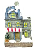 CHRISTMASSHOP Pequeña casa Ligera - Ladrillo Gris - LED con Pilas - Adornos navideños