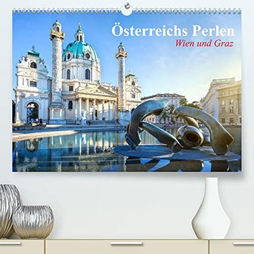 Wien und Graz. Österreichs Perlen (Premium, hochwertiger DIN A2 Wandkalender 2022, Kunstdruck in Hochglanz): Die zauberhaften Gesichter Österreichs (Monatskalender, 14 Seiten )