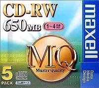 maxell CDRW MQシリーズ CDRW74MQ1P5S CD-RWディスク(650MB/ 5枚)